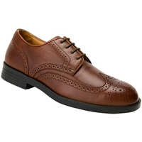 Drew Shoes - Clayton Wingtip - Brown Leather - Dress Shoe